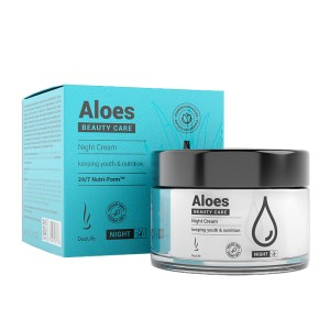 DuoLife Beauty Care Aloes Night Cream 50 ml - Krem na noc z aloesem